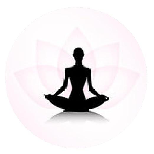 alfombrilla de ratón La mujer en pose de yoga - ronda ...