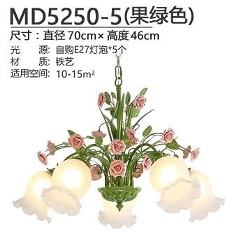 BESPD Landhausstil Pendelleuchte Warm Romantischen Schlafzimmer Wohnzimmer  Lampe Pendelleuchte Restaurant Blumen Lampen Für Dekoration, 4