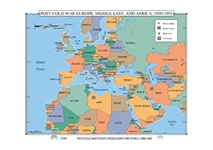 Cold War In Europe Map.Universal Map 30458 174 Post Cold War Europe Middle East And