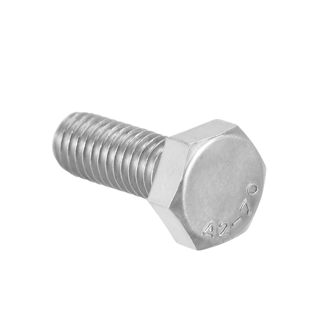 sourcing map M6 Thread 120mm 304 Stainless Steel Hex Head Screws Bolts Fastener 4pcs