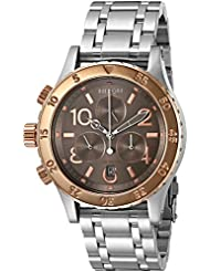 Nixon Womens A4042215-00 38-20 Chrono Analog Display Japanese Quartz Silver Watch