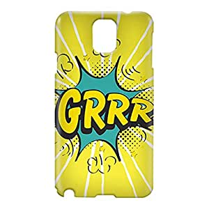 Loud Universe Samsung Galaxy Note 3 3D Wrap Around Comic Grrr Print Cover - Yellow