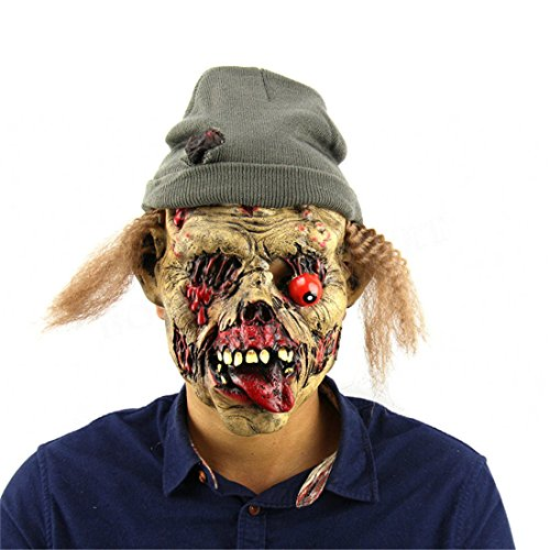 LALANG Scary Zombie Mask Halloween Party Haunted House