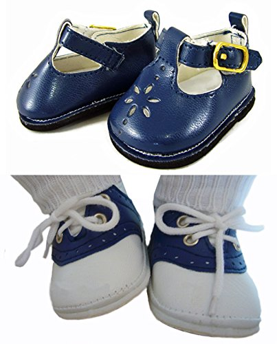 Navy Boy/Girl Shoes for Bitty Baby Twins by Doll Clothes ...