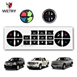 WETRY AC Dash Button Repair Decals Stickers for GM Vehicles Yukon Buick Enclave Chevy Tahoe Suburban Avalanche Silverado Denali XL - Professional Vinyl Overlay Decals - Fix Ruined Faded A/C Controls