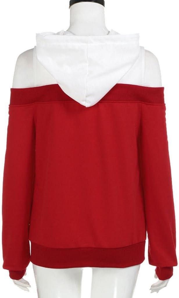 CUCUHAM Womens Long Sleeve Hoodie Sweatshirt Jumper Hooded Pullover Tops Blouse