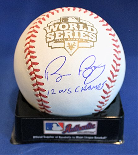 Autographed Bruce Bochy 2012 World Series Official Major League Baseball with - Baseball Autographed Official Series World