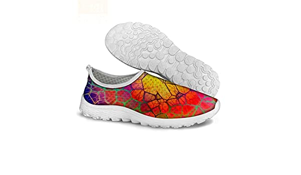 Womens Multicolor Floral Printed Walking Running Shoes Breathable Comfortable Non-Slip