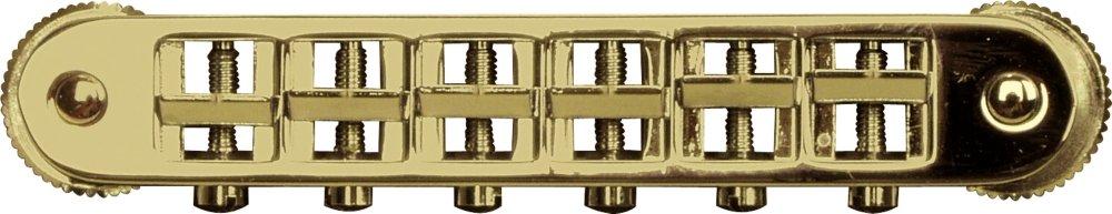 TonePros Locking Tune-o-matic (small posts) Notched Saddles Gold by Tonepros (Image #1)