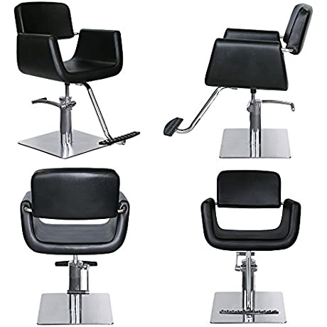Contemporary Barber Beauty Salon Equipment Hydraulic Styling Chair 4 X SC 38BLK