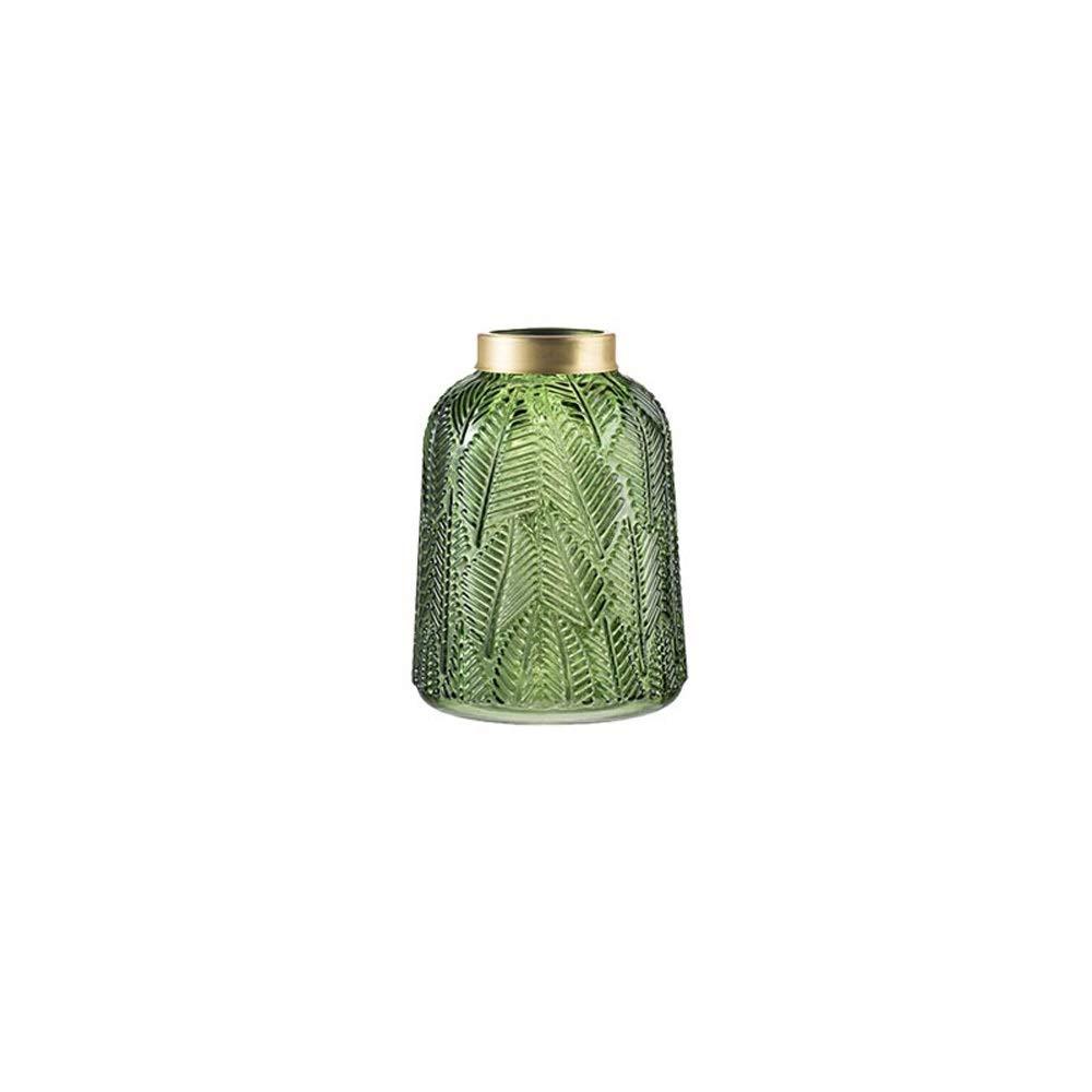 色ガラス花瓶用花緑植物結婚式の植木鉢装飾ホームオフィスデスク花瓶花バスケットフロア花瓶 (サイズ さいず : M m) B07R8KWHY3  M m
