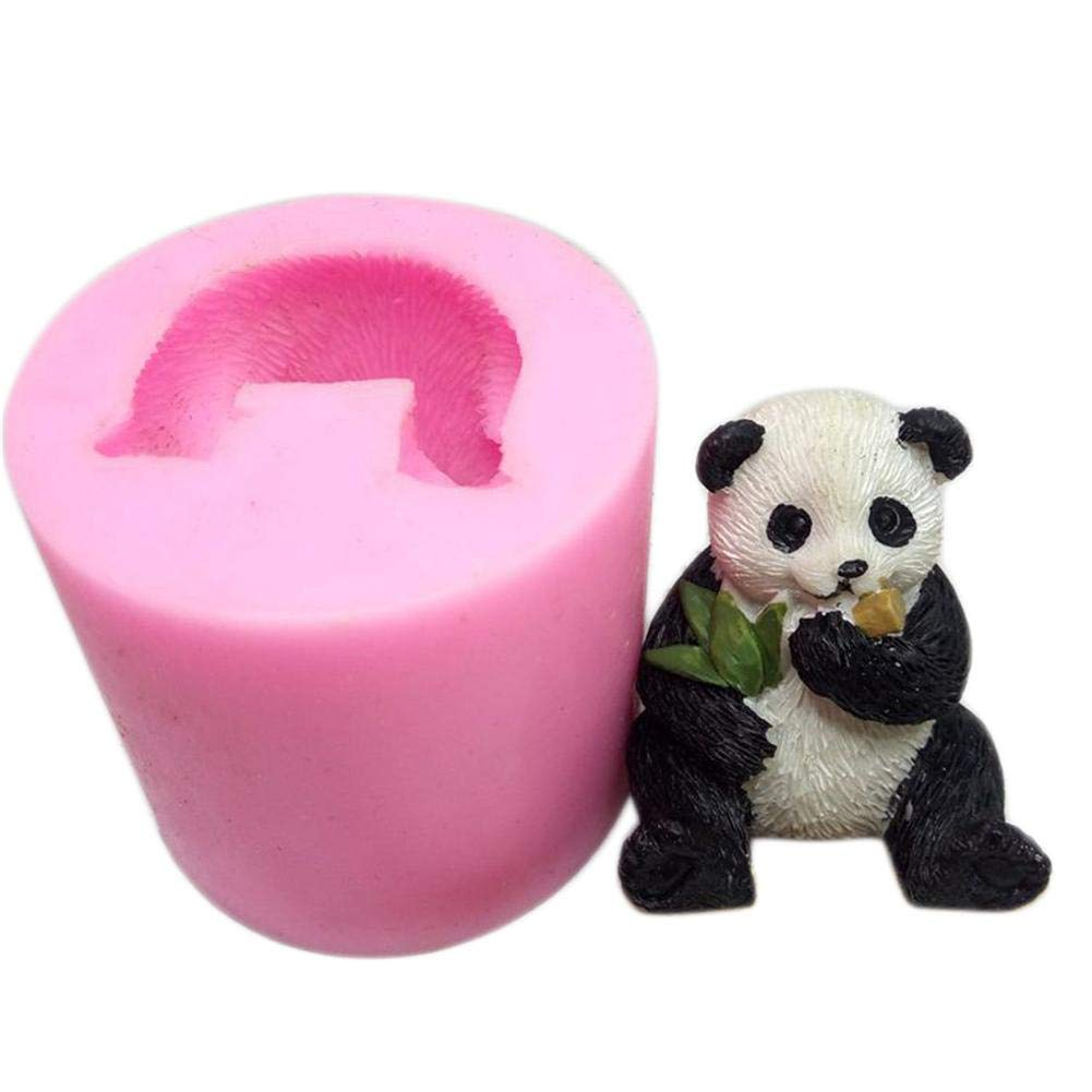 DIY Silicone Soap Mould Dorrisi 3D Panda Silicone Mould Used to Make Aromatherapy Plaster Candle Mold Cake Decoration