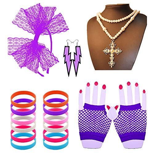 Gafull Madonna Costume Accessories for Women | 80s Party or Retro Costume Party -