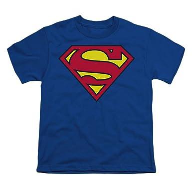 Amazon.com: Superman Kids Royal Blue Symbol T-Shirt: Clothing