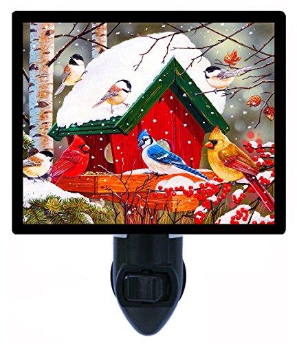 - Night Light - Wintry Feast - Birdfeeder - Cardinal - Birds