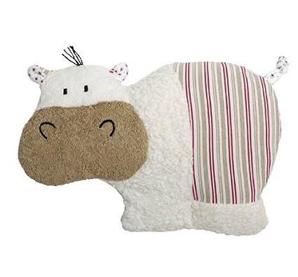Peluche Hipopótamo térmico 100% ecológico de lana virgen KbA y relleno de huesos de cereza