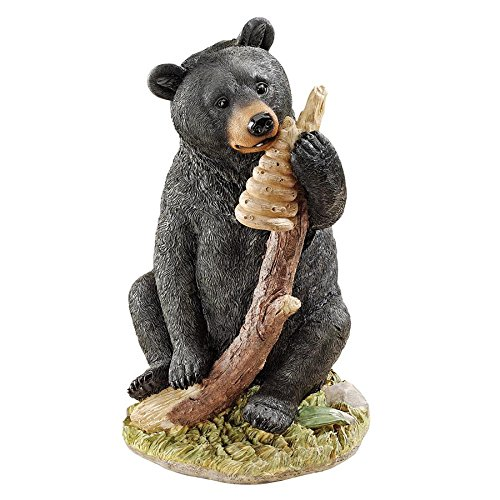 Design Toscano Black Honey the Curious Bear Cub Statue ()