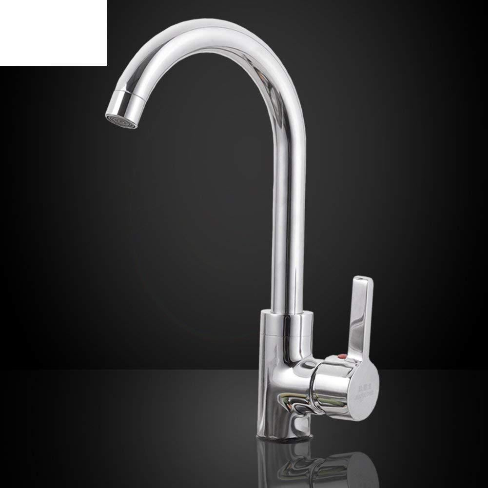 Eeayyygch Einlochmontage mit warmem und kaltem Wasserhahn Waschtischarmatur-A (Farbe   -, Größe   -)