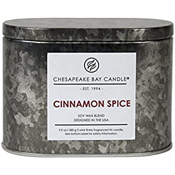 Chesapeake Bay Candle Heritage Collection Double Wick Tin Scented Candle, Cinnamon Spice
