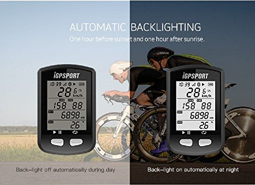 GPS Bike Computer with ANT+ Function iGPSPORT iGS10 Cycling Computer Support Heart Rate Monitor and Speed Cadence Sensor Connection by IGPSPORT (Image #3)