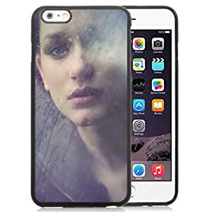 Beautiful Custom Designed Cover Case For iPhone 6 Plus 5.5 Inch With Girl Behind the Glass Phone Case