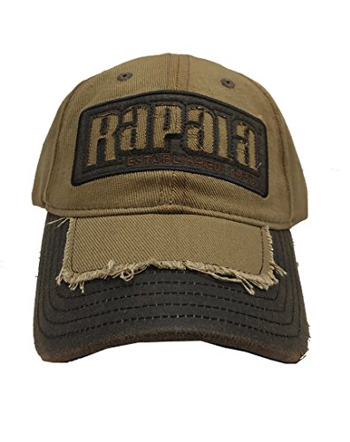 Rapala Distressed Waxed Canvas Logo Cap - Officially Licensed