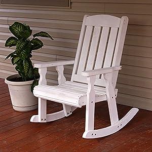 .com : Amish Heavy Duty 600 Lb Mission Pressure Treated Rocking Chair ...
