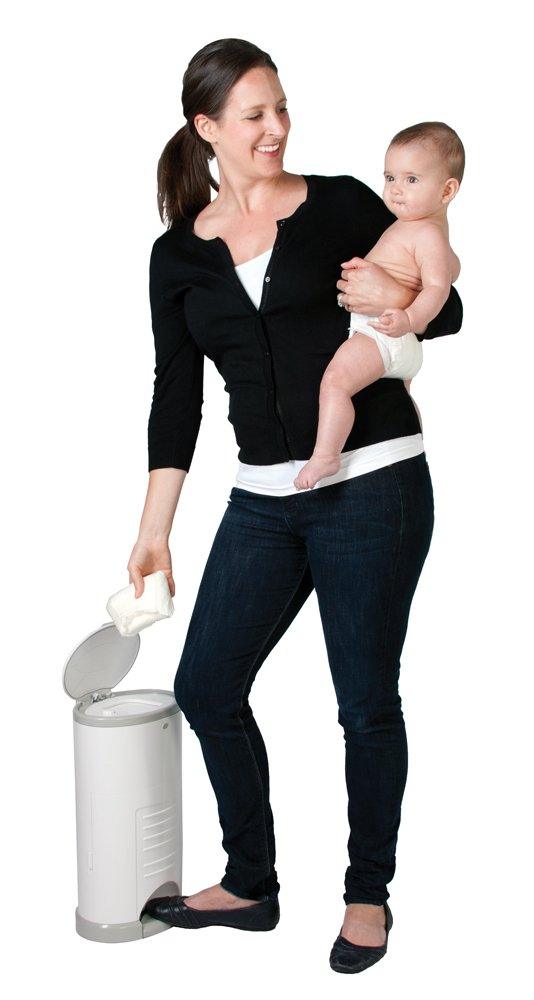 Dekor Mini Hands-Free Diaper Pail | Easiest to Use | Just Step – Drop – Done | Doesn't Absorb Odors | 20 Second Bag Change | Most Economical Refill System | White by DEKOR (Image #6)