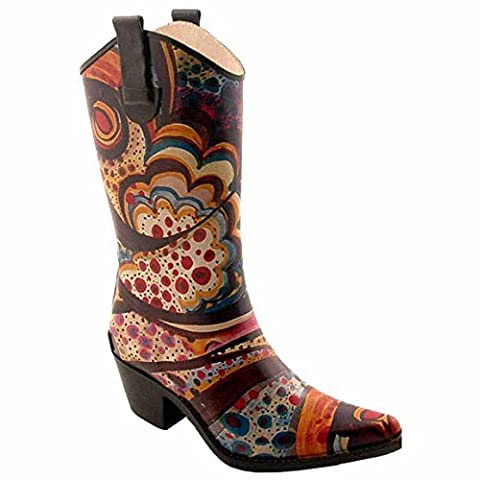 Corkys Rodeo Rain Boots for Women,7 B(M) US,Multi (Boot Rodeo Style)