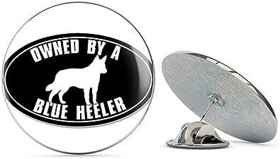 Select Gifts I Love My Dog Gold-Tone Cufflinks Blue Heeler