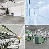 Sunco Lighting 10 Pack Wraparound LED Shop Light, 4 FT, Linkable, 40W=300W, 3500 LM, 5000K Daylight, Integrated LED, Direct Wire, Flush Mount Fixture, Utility Light, Garage- ETL, Energy Star
