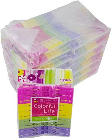 [해외]セキデン 『 철사 걸이에 편리한 옷 핀 』 セキデンピンチ 20 개 부 × 12 자루 세트 안쪽에 있는 불경기에서 전보를 ?める SEKIDEN Colorful Life PR-J4-12 / Sekiden Colorful Life PR-J4-12 To Sandwich The Wire In The Inside Recess Set × 12...