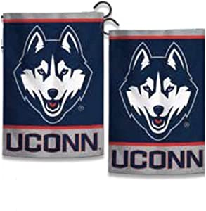 "WinCraft NCAA University Connecticut Huskies 12.5"" x 18"" Inch 2-Sided Garden Flag"