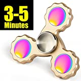 LYNEC Fidget Spinner - Hand Spinner EDC ADHD Focus,Ultra Durable Hight Speed Si3N4 Hybrid Ceramic Bearing,3-5 Mins Spins - Color Brass material