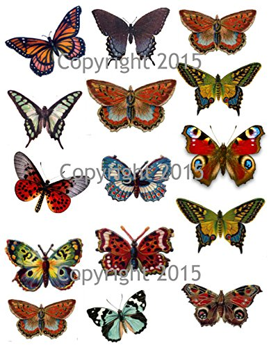 Victorian Scrap Die Cuts (Vintage Butterfly Collage Sheet #100, Art Images for Decoupage, Scrapbooking, Jewelry Making)