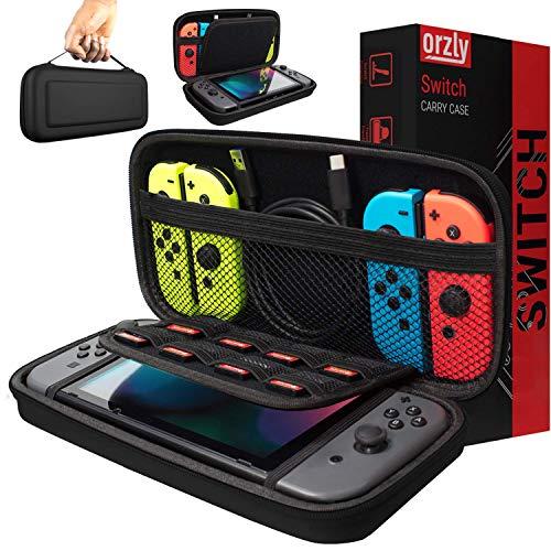 Orzly Draagtas, compatibel met Nintendo Switch, opbergtas, harde schaal, hoes, hoes, beschermhoes voor gebruik met de…