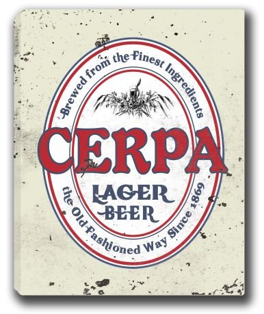 cerpa-lager-beer-stretched-canvas-sign-16-x-20