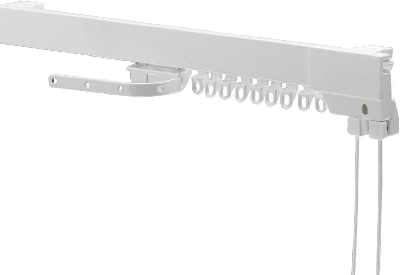 Swish Supreme Corded Aluminium Curtain Track Set, White, 350 Cm