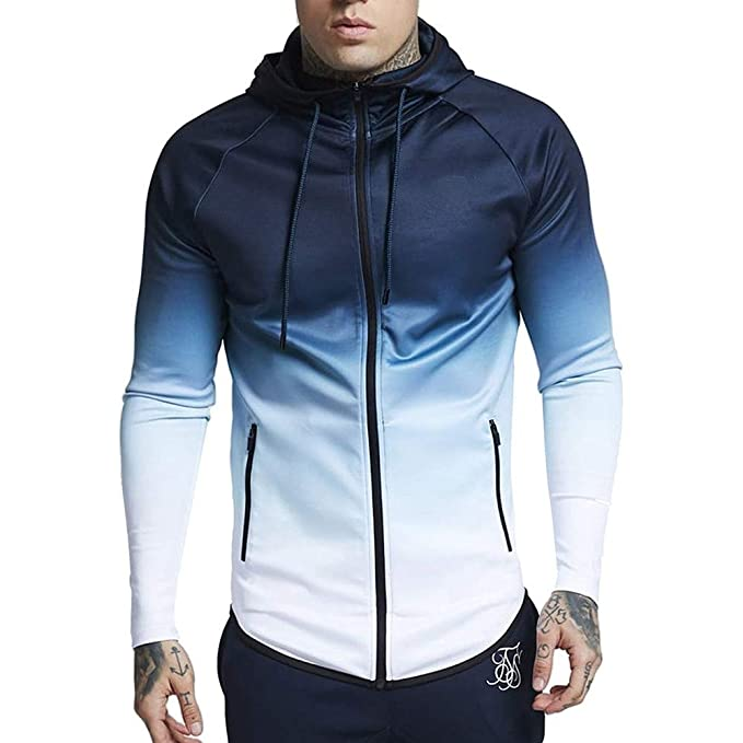 YOcheerful Mens Coat Gilet Sportswear Jacket Outwear Pullover Gym Hooded Sweatshirt at Amazon Mens Clothing store: