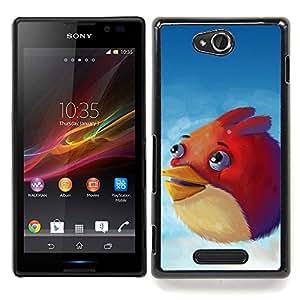 - Angry Birdz - - Cubierta del caso de impacto con el patr??n Art Designs FOR Sony Xperia C S39h C2305 Queen Pattern