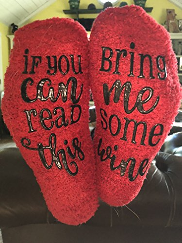 Luxury Red If you can read this bring me Wine Socks with Cupcake Gift Packaging (We Take The Cake)