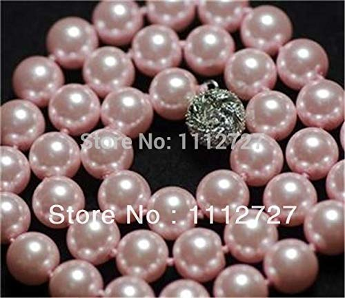 Calvas Fashion Trendy Charming 10mm Cream South Sea Shell Pearl Necklace Fashion Jewelry Making Design 18