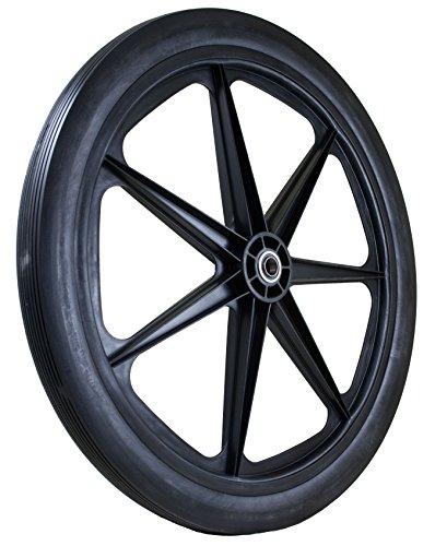 Marathon 24x2.0'' Flat Free Cart Tire on Plastic Rim, 3/4'' Bearing by Marathon Industries