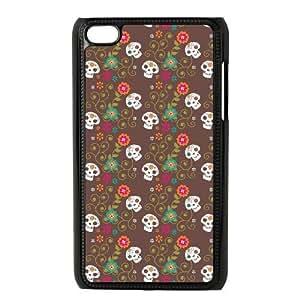 ipod 4 Black phone case Halloween Skull The best gift DVE3534801