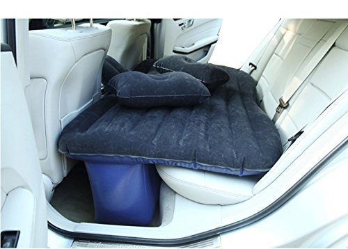 Car Travel Inflatable Matress Self-driving Flocking Inflatable Bed Black