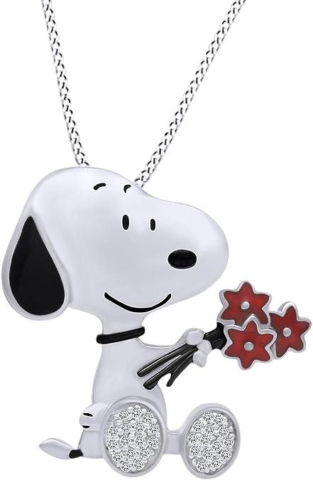 New Snoopy Peanuts Heart Silver 925 Earrings Accessory Jewelry from Japan