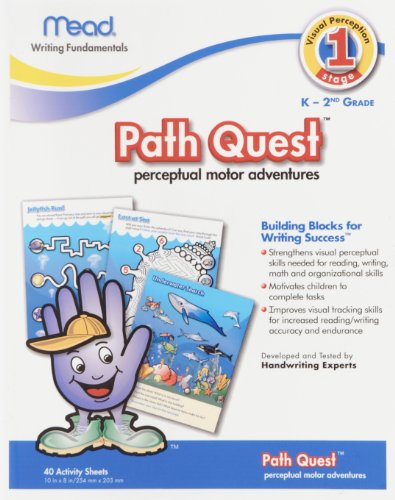 Path Quest WorkBook Building Blocks for Writing Success: Perpectual Motor Adventures, 40 pages (45306)