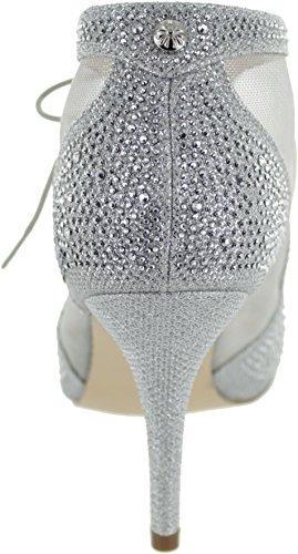 bottes Lotus Microfibre Noir Vanille Diamante Diamante Chaussure Silver aXXqBSfwxr