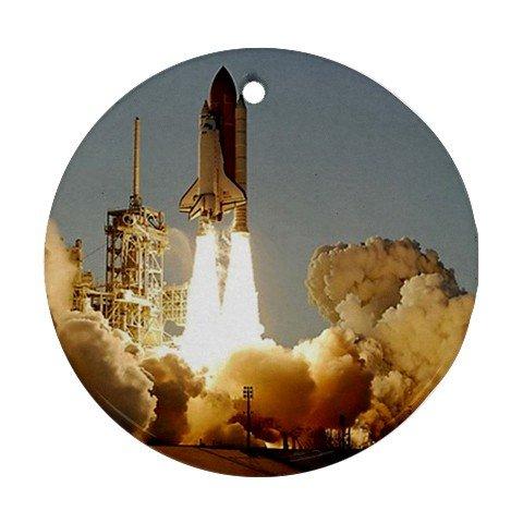 Space Shuttle Atlantis Launch NASA Ornament round porcelain Christmas Great Gift Idea MYDply
