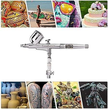 D/üsen 0.2//0.3//0.5 mm, 7cc #3 CHSEEO Doppelaktion Airbrush-Set Airbrushpistole Spr/ühpistole Airbrush Spritzpistole f/ür N/ägel Tattoos Nailart Kuchen Makeup Modellbau und Handwerk
